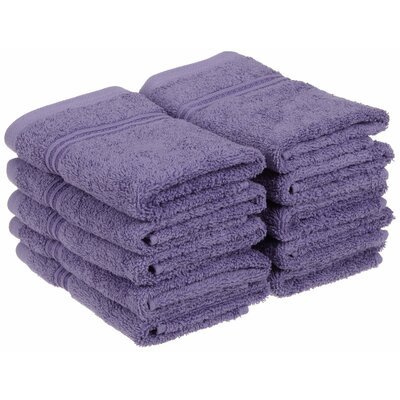Patric 10 Piece Wash Cloth Set Color: Royal Purple
