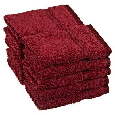 Patric Wash Cloth Color: Burgundy