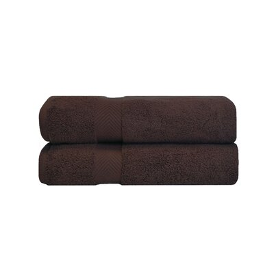 Clayton Zero Twist Bath Sheet Set Color: Espresso