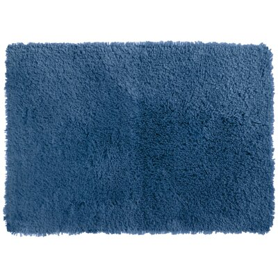 Afton Bath Rug Color: Denim, Size: 20 x 34