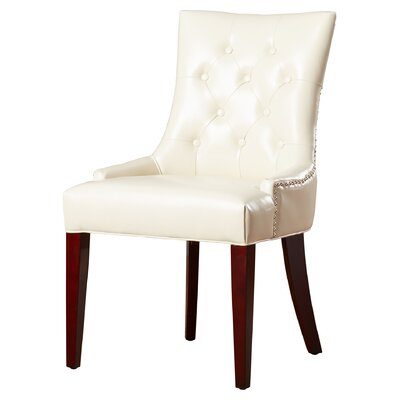Plainville Side Chair Upholstery: Cream