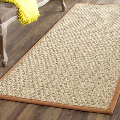 Driffield Natural/Brown Area Rug Rug Size: Runner 26 x 4