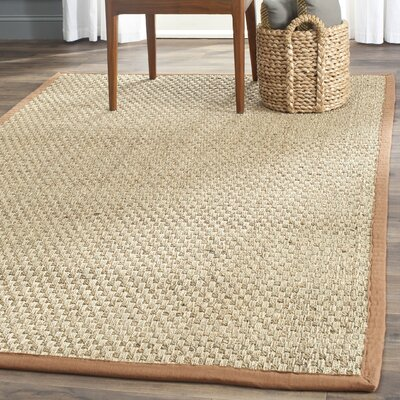 Driffield Natural/Brown Area Rug Rug Size: 10 x 14