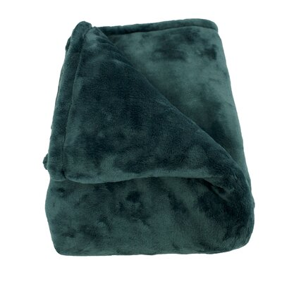 Philip Throw Blanket Color: Teal