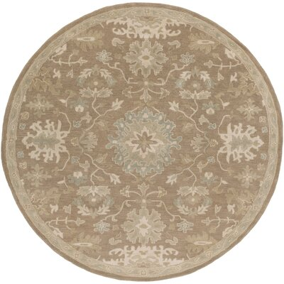 Whittaker Brown Area Rug Rug Size: Round 8