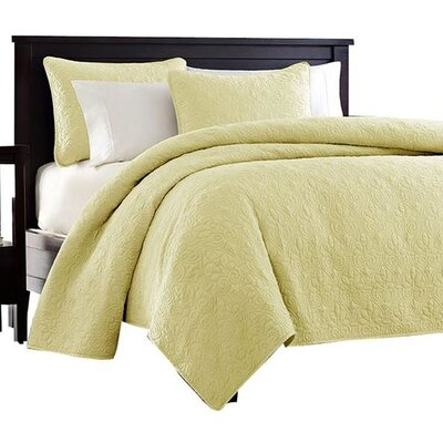 Seys Cotton Coverlet Set Size: Full / Queen, Color: Yellow
