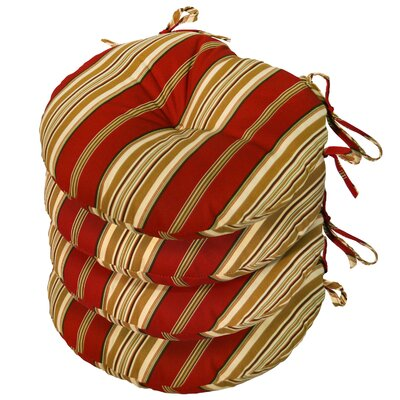 Outdoor Round Bistro Dining Chair Cushion Fabric: Roma Stripe