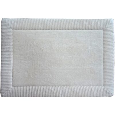 Warm Springs Borders Bath Rug Size: 21 x 34, Color: Ivory