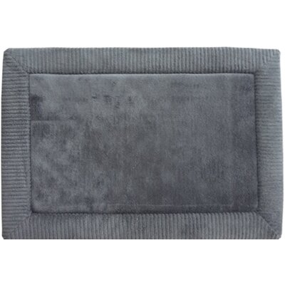 Warm Springs Borders Bath Rug Color: Gray, Size: 21 x 34