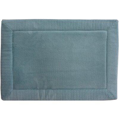 Warm Springs Borders Bath Rug Size: 17 x 24, Color: Spa Blue
