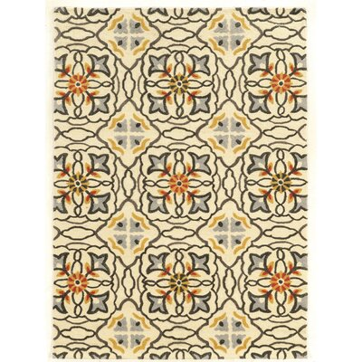 Hand-Tufted Beige Area Rug Rug Size: Rectangle 5 x 7