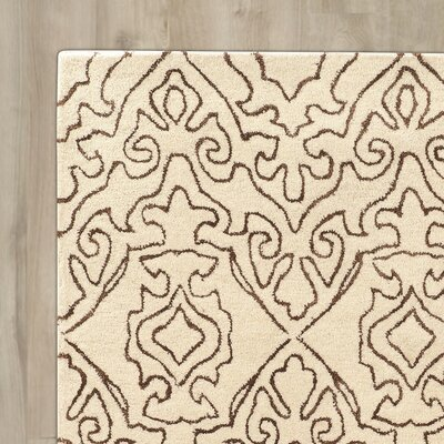 Lamoille Kindle Hand-Tufted Beige Area Rug Rug Size: Rectangle 8 x 11