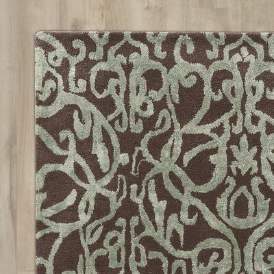 Lamoille Crystal Hand-Tufted Brown/Green Area Rug Rug Size: 5 x 8
