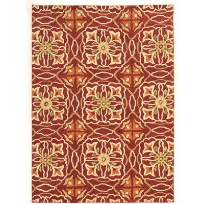 Pen Hand-Tufted Brown/Beige Area Rug Rug Size: 5 x 7