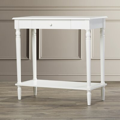 Carlisle Console Table Finish: White