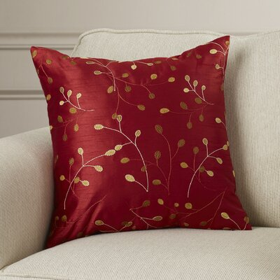 Selby Throw Pillow Size: 18 x 18, Color: Red, Fill: Polyester