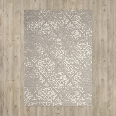 Portleven Taupe/Ivory Area Rug Rug Size: Rectangle 5 x 7