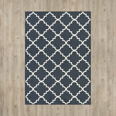 Hanley Navy And White Area Rug Rug Size: Rectangle 26 x 310