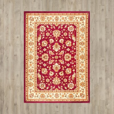 Baxter Red Area Rug Rug Size: 5 x 8