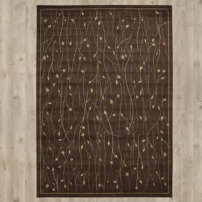 Groveland Hand-Tufted Brown Area Rug Rug Size: Rectangle 96 x 136