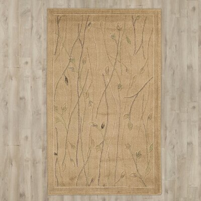 Groveland Hand-Knotted Beige Area Rug Rug Size: Rectangle 96 x 136