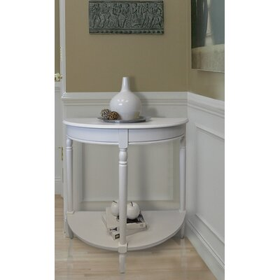 Carlisle Console Table Top Finish: White
