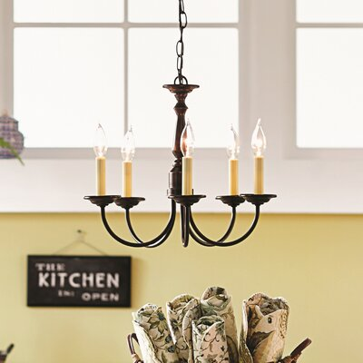 Francesville 5-Light Candle-Style Chandelier Finish: Antique Bronze