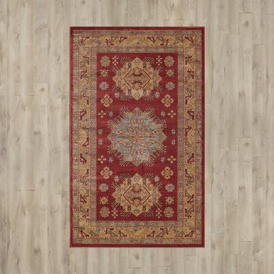 Jana Red/Brown Area Rug Rug Size: 106 x 165
