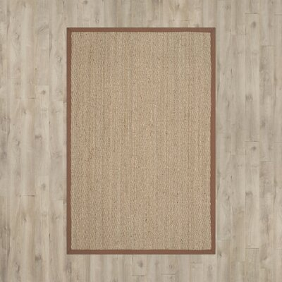 Alberta Natural/Light Brown Contemporary Area Rug Rug Size: 6 x 9