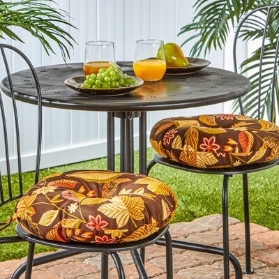 Bistro Outdoor Dining Chair Cushion Size: 15