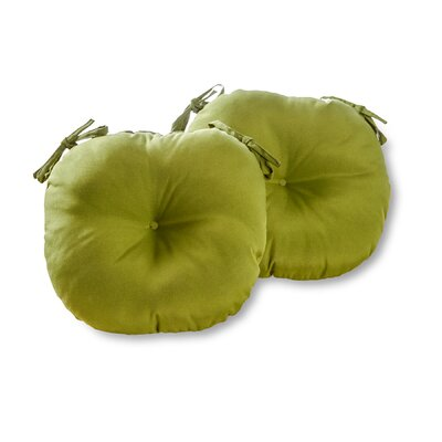 Bistro Outdoor Dining Chair Cushion Fabric: Summerside Green, Size: 15