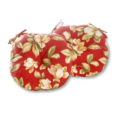 Bistro Outdoor Dining Chair Cushion Fabric: Roma Floral, Size: 15