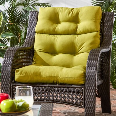 Outdoor High Back Chaise Lounge Cushion Fabric: Kiwi