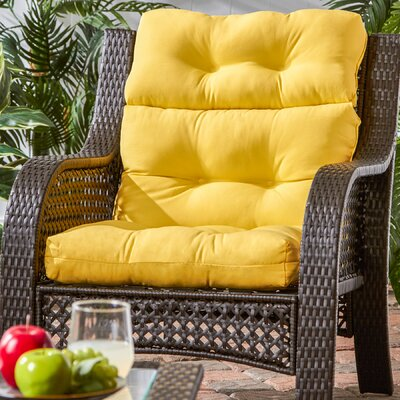 Outdoor High Back Chaise Lounge Cushion Fabric: Sunbeam
