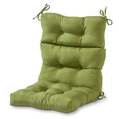 Outdoor High Back Chaise Lounge Cushion Fabric: Summerside Green
