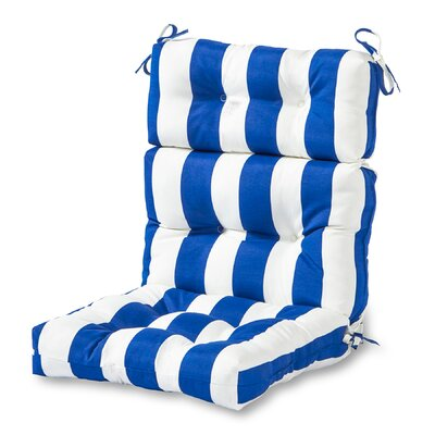 Outdoor High Back Chaise Lounge Cushion Fabric: Cabana Blue