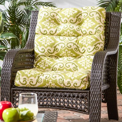 Outdoor High Back Chaise Lounge Cushion Fabric: Shoreham