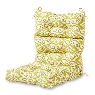 Outdoor High Back Chaise Lounge Cushion Fabric: Shoreham