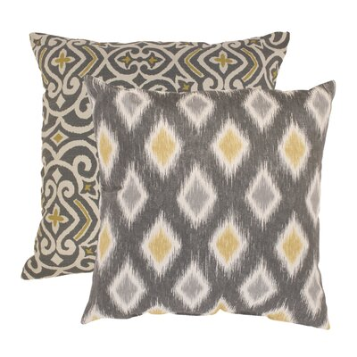 Fraley And Rodrigo 100% Cotton Throw Pillow Set Size: 18 x 18