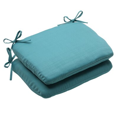 Tadley Outdoor Seat Cushion Color: Turquoise