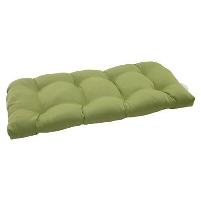 Tadley Outdoor Loveseat Cushion Color: Green