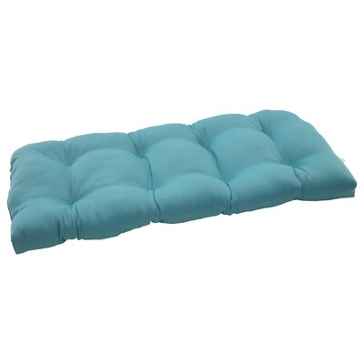 Tadley Outdoor Loveseat Cushion Color: Turquoise