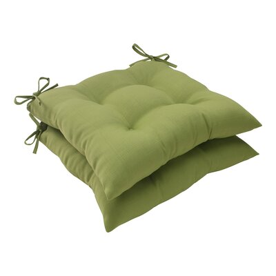 Tadley Outdoor Seat Cushion Color: Green