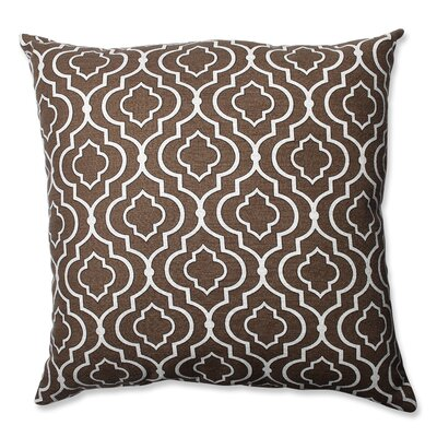 Carlyle Cotton Floor Pillow Color: Chocolate