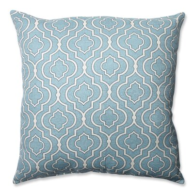 Carlyle 100% Cotton Throw Pillow Color: Aqua