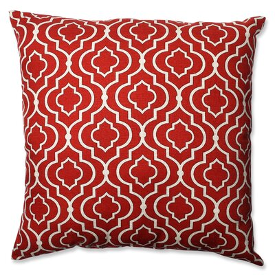 Carlyle 100% Cotton Throw Pillow Color: Red