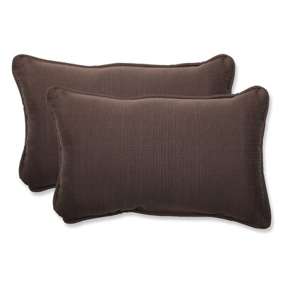Tadley Outdoor Lumbar Pillow Size: 11.5 H x 18.5 W x 5 D, Color: Chocolate