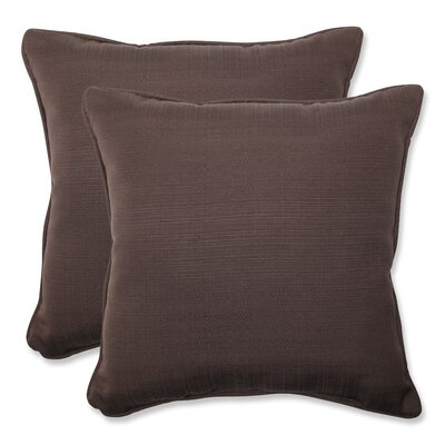 Tadley Corded Indoor/Outdoor Throw Pillow Color: Chocolate