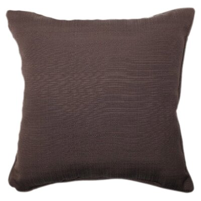 Tadley Corded Outdoor Throw Pillow Color: Chocolate