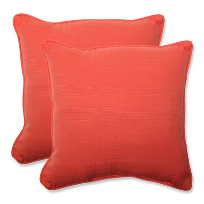 Tadley Corded Outdoor Throw Pillow Color: Coral